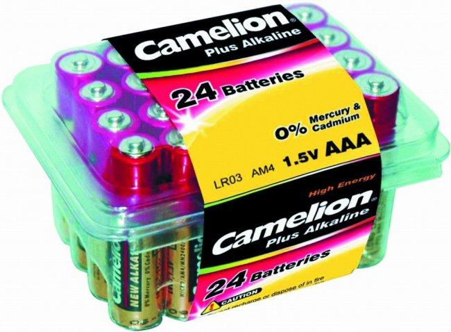 Батарейки алкалиновые Camelion 1.5V тип ААА LR03 АM4