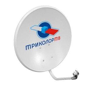 Антенна спутниковая офсетная АУМ CTB-0.6ДФ-1.1 0.55 605 logo St с лого Триколор
